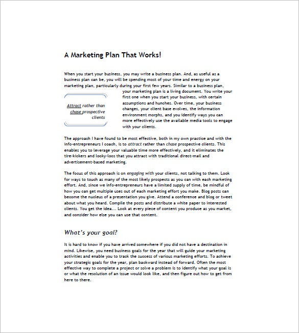 Book Marketing Plan Template Free Word Excel PDF Format - Effective business plan template