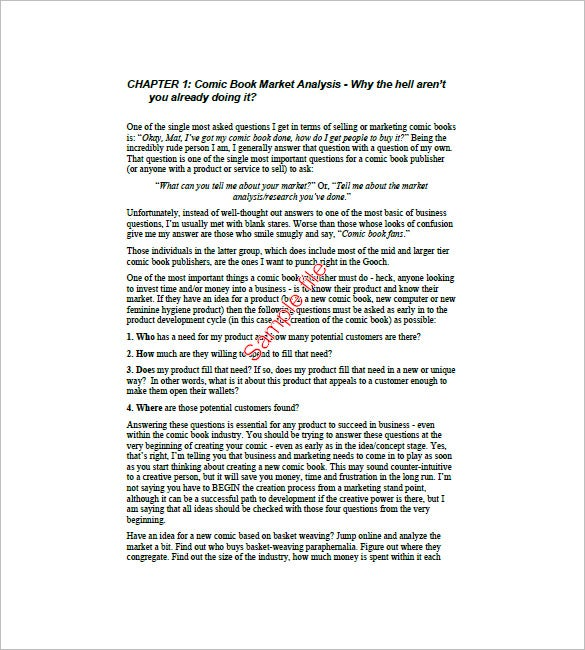 Book Marketing Plan Template 8 Free Word Excel PDF Format – Sample Book Document