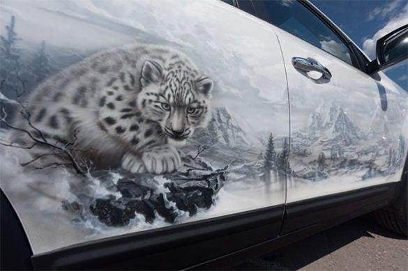 aerography design of tiger