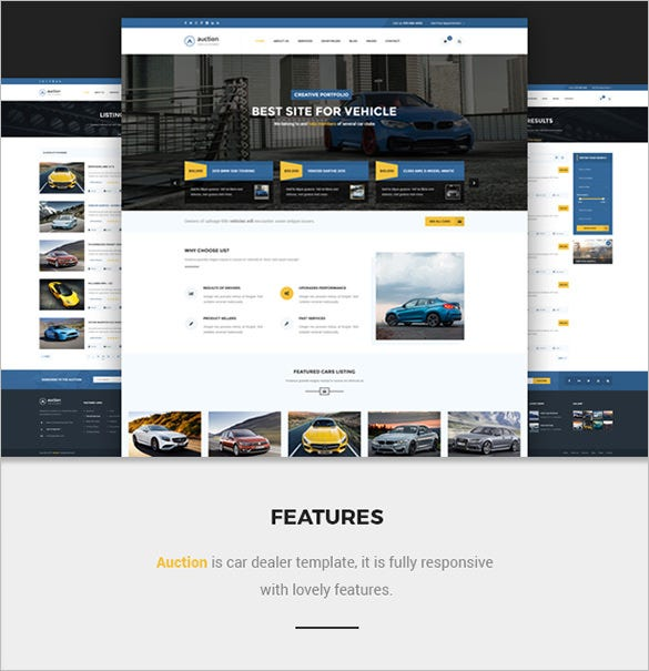 proffesional car dealer html template