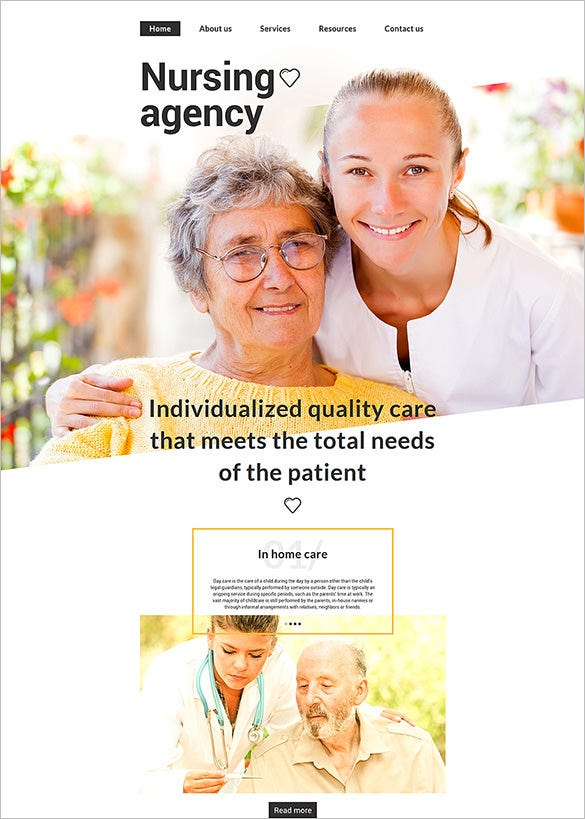 aged care html5 website template