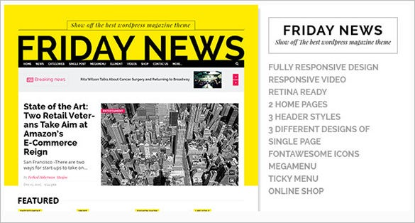 news portfolio website html5 template