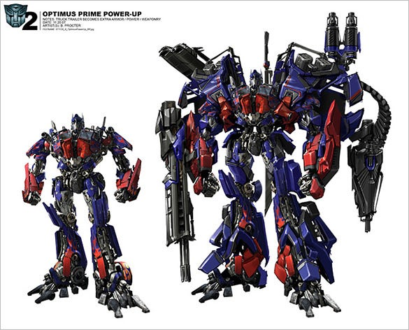 optimus prime power conceptual art