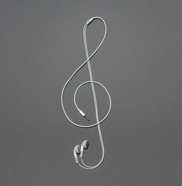 headphone music conceptual art