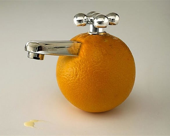 orange conceptual art