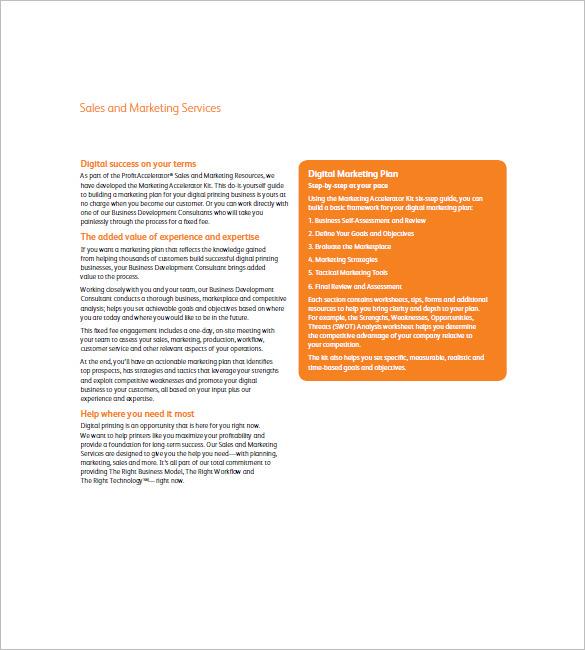 example digital marketing plan tempalte