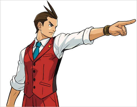 apollo justice objection pose game character