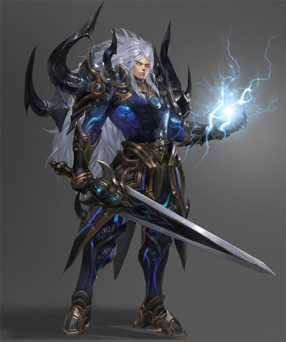 character design for xuan yuan legend