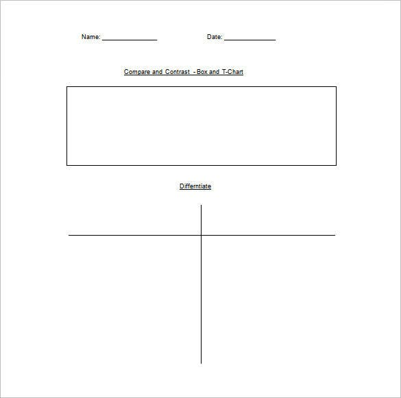 box and t chart free word download