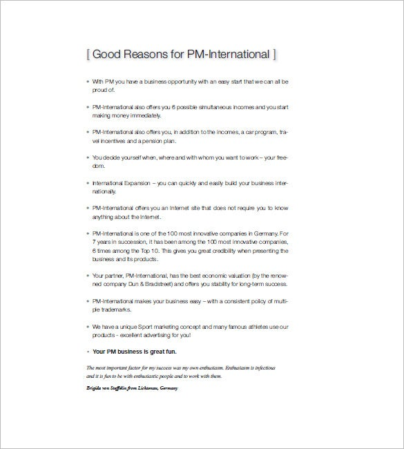 pm international marketing plan