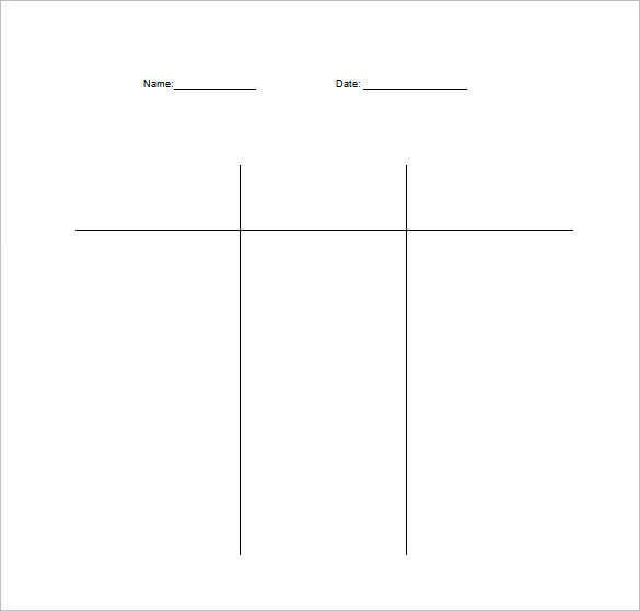 double t chart free word template download
