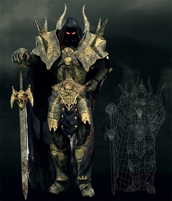 daragoth 3d game character design