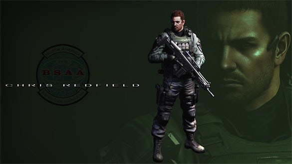 chris redfield resident evil game character