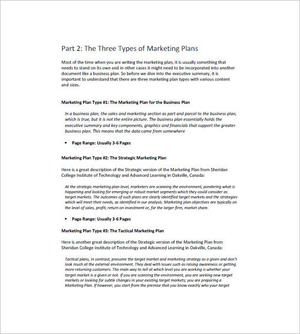Marketing Campaign Plan Template   Free Word Excel