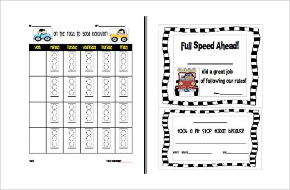 Behavior chart template 12 free sample example format for Abc behaviour chart template