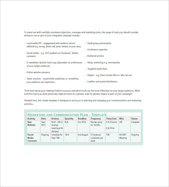 14+ Marketing Campaign Plan Templates - Docs, Excel, PDF