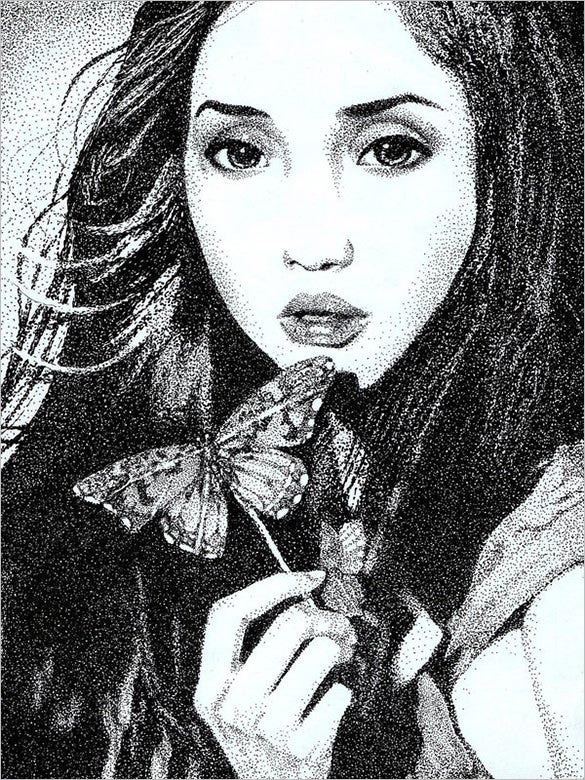 beautiful aloidia pointillism art