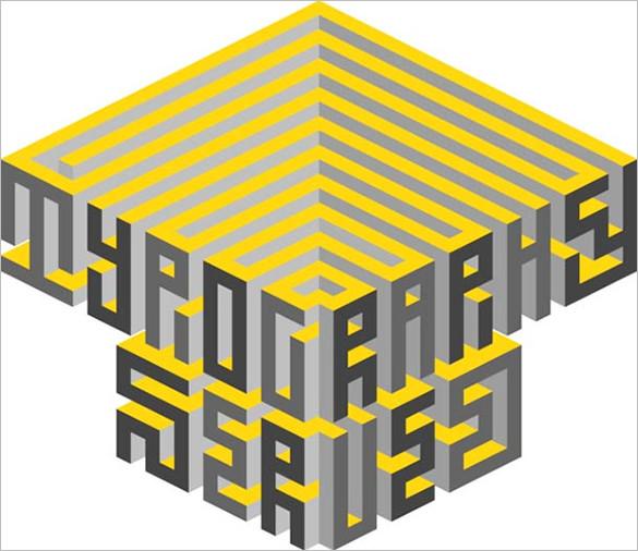 isometric typography maxim tictac