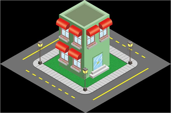 isometric building model design