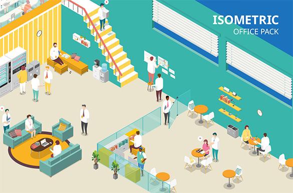 isometric office design