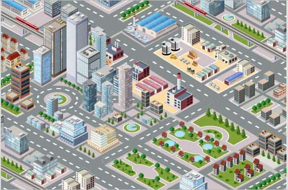 big isometric city design