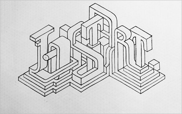 isometric grid drawing design