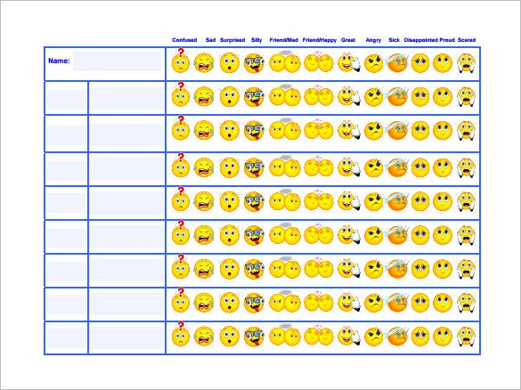 6 behavior chart templates pdf doc free premium for Behavior charts for preschoolers template