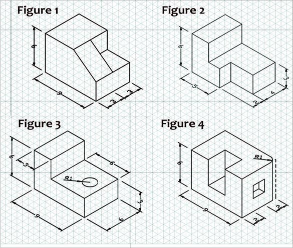 orthographic projection from isometric block