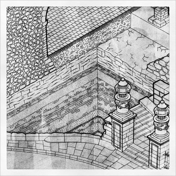 isometric drawing in archaeology