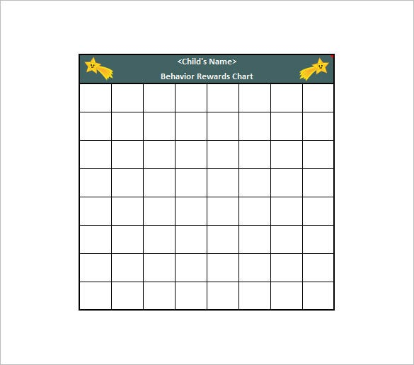 Behavior Chart Template   Free Word Excel Pdf Format
