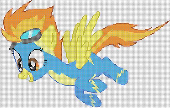 spitfire pixel art template