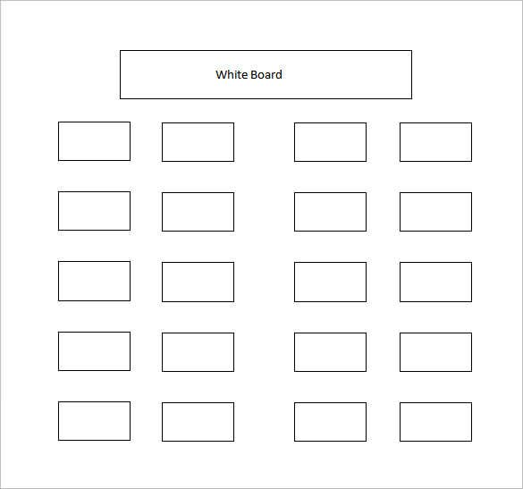 Classroom Layout Template Word ~ Classroom seating chart template free sample