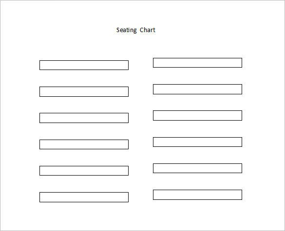 Classroom Seating Chart Template 8 Free Word Excel PDF Format – Seating Chart Template for Classroom
