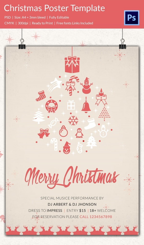 75 christmas poster templates free psd eps png ai vector format download free for Poster templates free download
