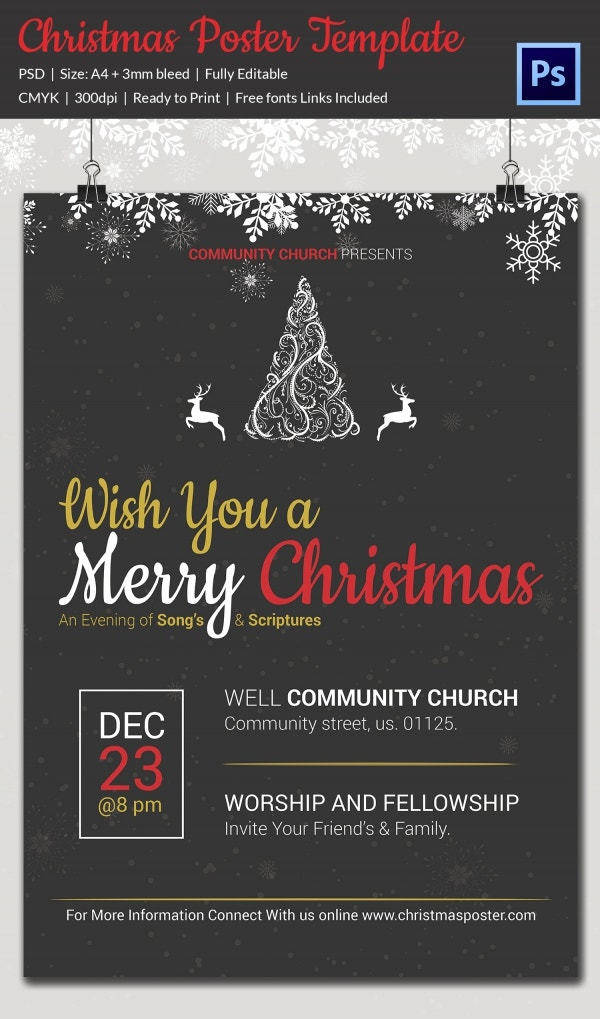 22 Christmas Posters Psd Format Download Free Premium Templates