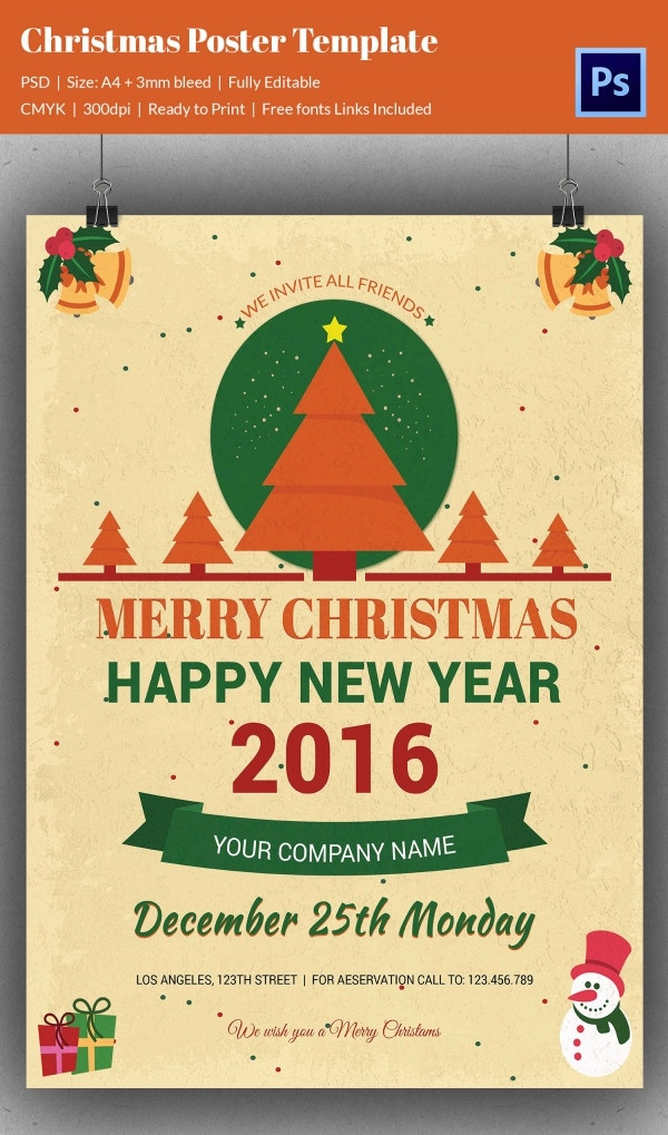 A1 poster christmas template free download