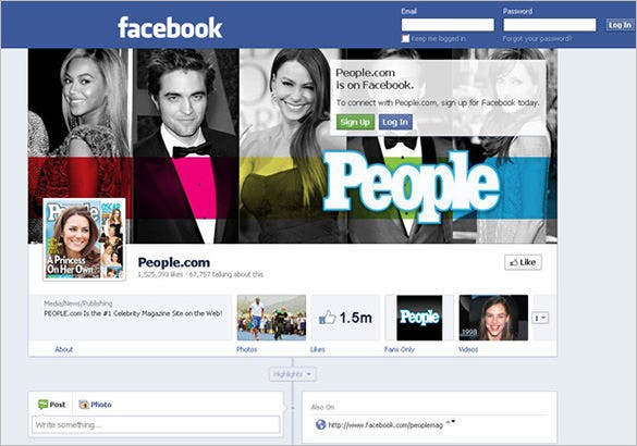 facebook profile account banner template