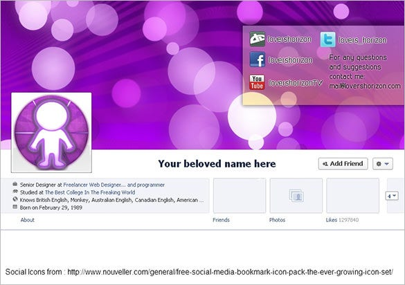 14+ Facebook Banner Size Templates | Free & Premium Templates