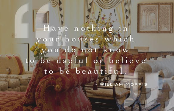 william morris designer quote