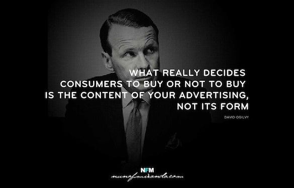 david ogilvy designer quote