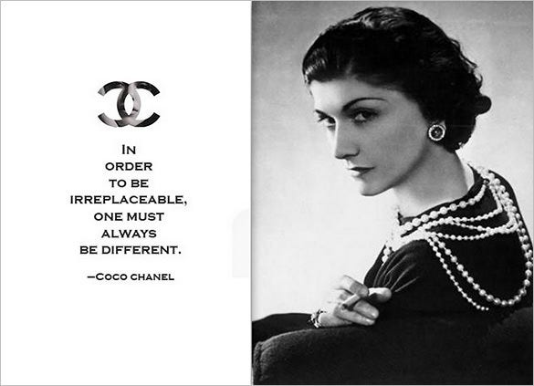 coco chanel famous designer quote