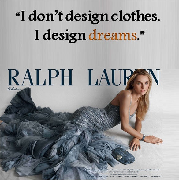 ralph lauren designer quote