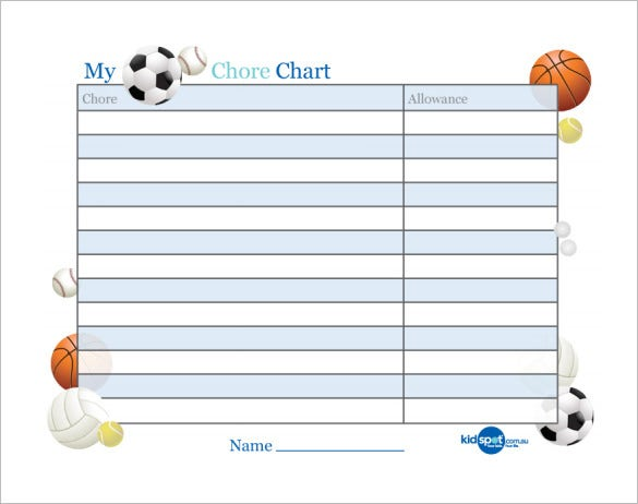 basic chart template for reward free pdf download