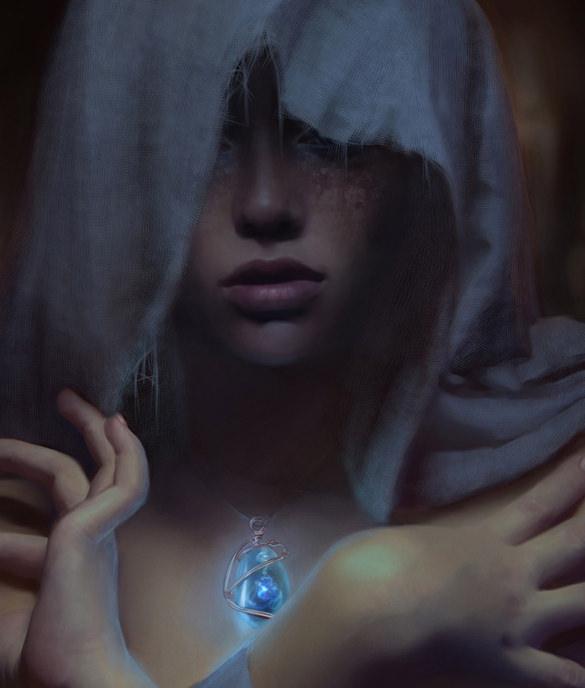 dark girl digital painting