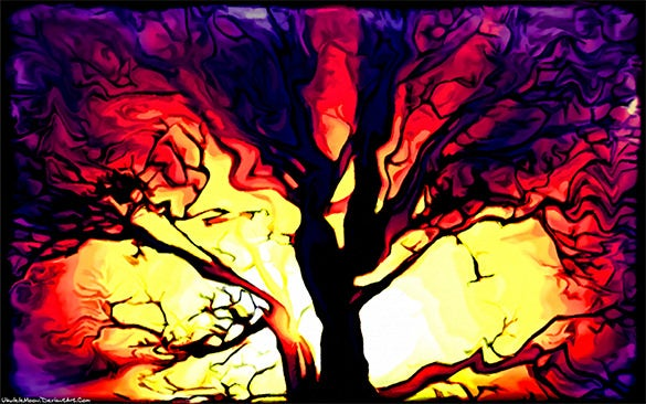 the terror tree digital painting