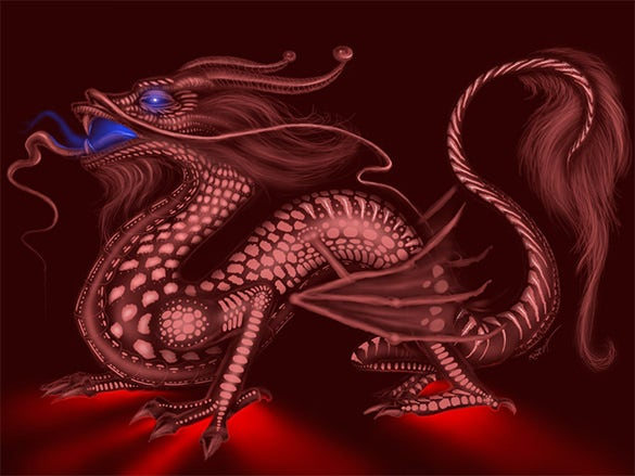 voodoo dragon digital painting
