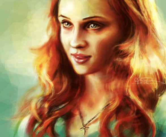 a pretty girl digital painting
