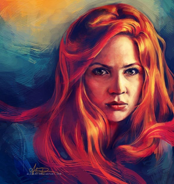 amy pond digital painting art