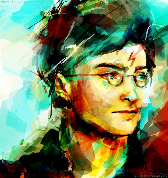 harry potter digital painting art