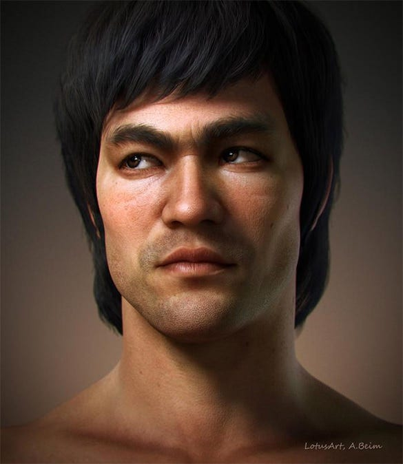 awesome bruce lee digital painting